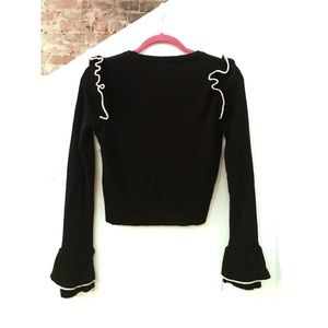 TopShop Black Cropped Sweater